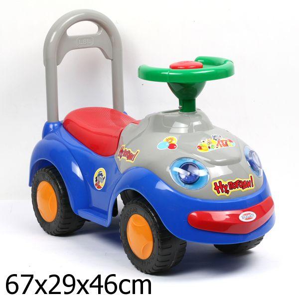 Машина Bugati для катания детей Ну, погоди.  612А озвуч. на бат. желт.