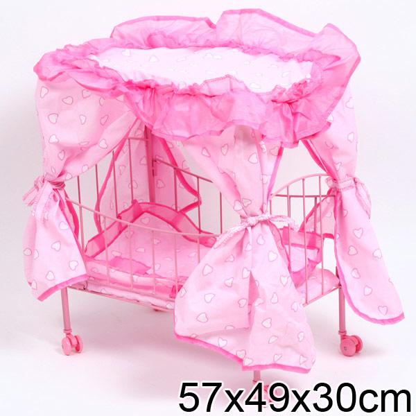 Кроватка с балдахином для кукол своими руками