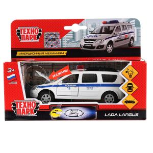 Машина металл свет-звук LADA LARGUS, двери, багаж., инерц., кор. Технопарк в кор.2*24шт