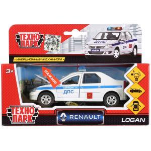 Машина металл свет-звук RENAULT logan, 12,5 см, двери, багаж., инерц., кор. Технопарк в кор.2*24шт