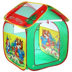 """Палатка детская игровая """"Три медведя"""",  83х80х105см в сумке Играем вместе в кор.24шт"""