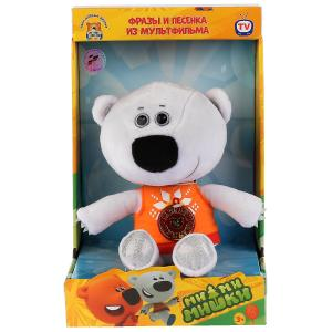 Игрушка мягкая Ми-ми-мишки медвежонок белая тучка 25см, муз. чип, в кор. МУЛЬТИ-ПУЛЬТИ в кор.12шт