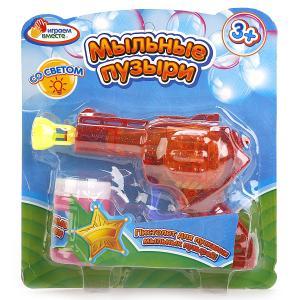 """Пистолет д/пускания мыльных пузырей """"Играем вместе"""" 50мл, со светом на блистере в кор.2*72шт"""