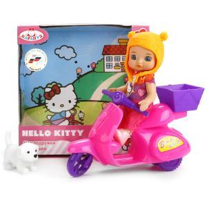"Кукла ""Карапуз"" Hello Kitty 12см, без звука, с мопедом, щенком и аксесс, в ассорт. в кор. в кор.40шт"