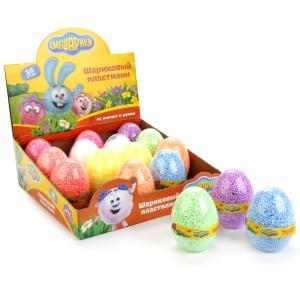 Шариковый пластилин MultiArt Смешарики незастывающий в яйце в дисплее уп-16шт в кор.4уп
