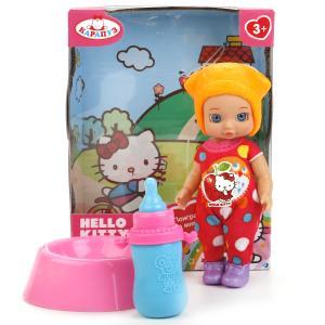 """Кукла """"Карапуз"""" Hello Kitty 12см, без звука, с горшком и аксесс., в ассорт. в русс. кор. в кор.60шт"""