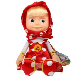 Игрушка мягкая Маша и Медведь маша в красном платье, 29 см, муз. чип, в пак. Мульти-пульти в кор24шт