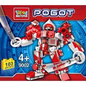 """Игрушка конструктор """"город мастеров""""  робот, 103 дет., цвет в ассорт. в банке в кор.144шт."""