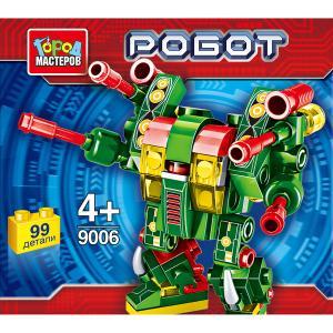 """Игрушка конструктор """"город мастеров"""" робот, 99 дет., цвет в ассорт. в банке в кор.144шт."""
