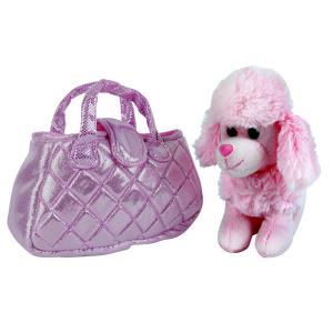 Собака в сумочке пудель розовый 19см MY FRIENDS в пак. в кор.24шт