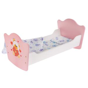 """Кроватка для кукол """"Карапуз"""" """"Мой мишка"""" деревянная 52см, цельные боковины в кор. в кор.10шт"""