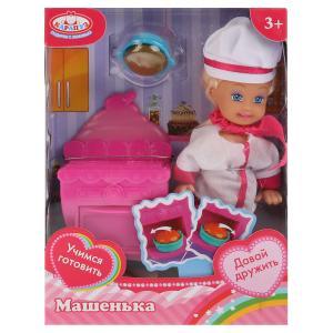 Кукла, ТМ Карапуз, Машенька 12см, в наборе кухонная плита, костюм повара, аксесс. в кор в кор.2*96шт