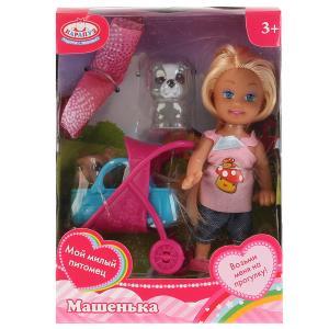 Кукла, ТМ Карапуз, Машенька 12см, в комплекте набор д/пикника, 2 питомца, аксесс. в кор в кор.2*96шт