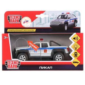 Машина металл Пикап полиция 13,3см, свет+звук, открыв. двери, инерц. в кор. Технопарк в кор.2*24шт