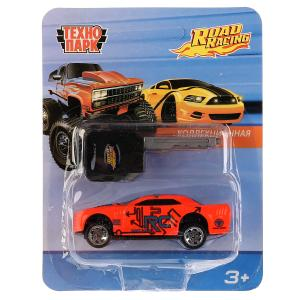 "ТМ Технопарк. Машина металл ""ROAD RACING"" 7,5см, ключ-пуск в компл., В АССОРТ. в кор.4*120шт"
