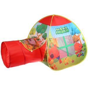 Палатка детская игровая МИМИМИШКИ с тоннелем, 81x95x95,46x100см, в сумке Играем вместе в кор.10шт