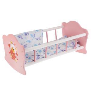 """Кроватка для кукол """"Карапуз"""" """"Мой мишка"""" деревянная 52см, постельные принадлежн. в кор. в кор.10шт"""