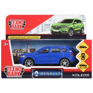 Машина металл RENAULT KOLEOS, длина 12см, открыв. двери, инерц, синий, в кор. Технопарк в кор.2*36шт