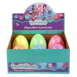 Шариковый крупнозерн.незаст.пластилин MultiArt Enchantimals, 16гр в яйце в дисплее уп-6шт в кор.8уп