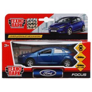 Машина металл FORD Focus хэтч. синий 12см, открыв. двери, инерц. в кор. Технопарк в кор.2*24шт