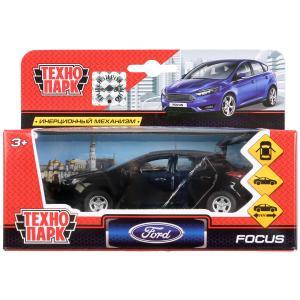 Машина металл FORD Focus хэтч. черный 12см, открыв. двери, инерц. в кор. Технопарк в кор.2*24шт