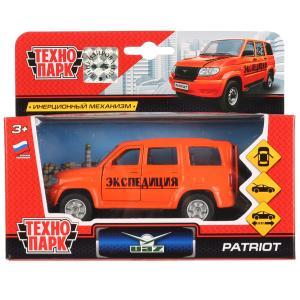 Машина металл УАЗ Patriot экспед. 12см,открыв. двери и багажник,инерц. в кор. Технопарк в кор.2*24шт