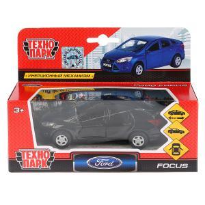 Машина металл FORD Focus 12см, инерц., открыв. двери и багажник, цвет черный. Технопарк в кор.2*24шт