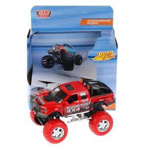 """Машина металл """"ДЖИП ROAD RACING"""", 12см, инерц., свет+звук, красн, в кор. Технопарк в кор.2*36шт"""