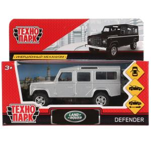 Машина металл LAND ROVER DEFENDER 12см, открыв. двери, инерц, серебр. в кор. Технопарк в кор.2*36шт