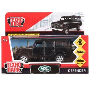 Машина металл LAND ROVER DEFENDER 12см, открыв. двери, инерц, черный, в кор. Технопарк в кор.2*36шт