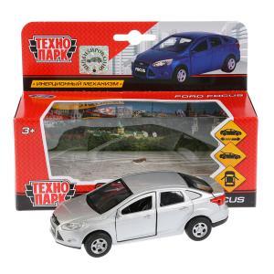 Машина металл FORD Focus 12см, инерц., открыв. двери, цвет серебристый в кор. Технопарк в кор.2*24шт