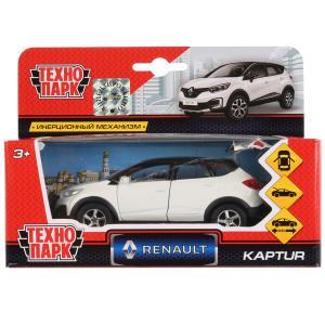 Машина металл RENAULT Kaptur бело-черный 12см, открыв. двери, инерц. в кор. Технопарк в кор.2*24шт