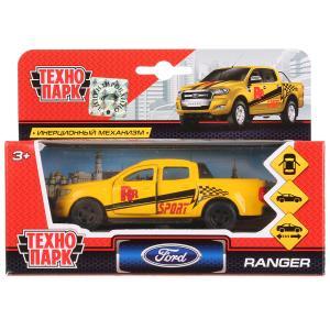 Машина металл FORD Ranger пикап спорт 12см, открыв. двери, инерц. в кор. Технопарк в кор.2*24шт