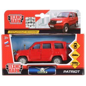 Машина металл УАЗ Patriot красный 12см, открыв. двери, инерц. в кор. Технопарк в кор.2*24шт