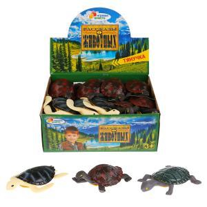 Игрушка пластизоль тянучка Играем вместе черепаха 13см 3асс. в дисплее уп-12шт в кор.10уп