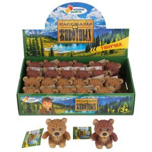 Игрушка пластизоль тянучка Играем вместе медведь 7,6см 2асс. в дисплее уп-24шт в кор.10уп
