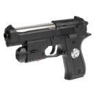 Пистолет (п) с лазер. прицелом, со светом, с пульками 912 в пак. в кор.2*72шт