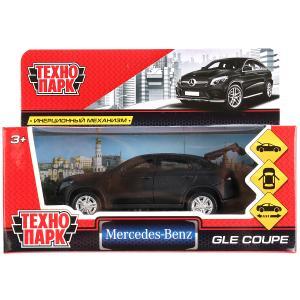"""Машина металл """"MERCEDES-BENZ GLE COUPE МАТОВЫЙ ЧЕРНЫЙ"""" 12см, инерц. в кор. Технопарк в кор.2*36шт"""
