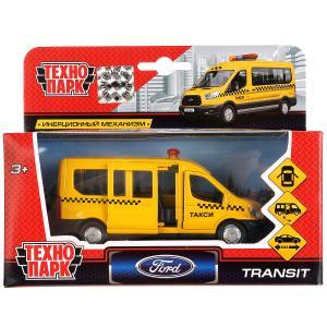Машина металл FORD Transit такси 12см, открыв. двери, инерц. в кор. Технопарк в кор.2*24шт