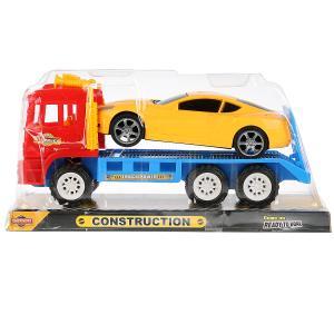 Машина инерц. тягач с легковой машиной, цвет в ассорт. 113 в пласт. в кор.2*36шт