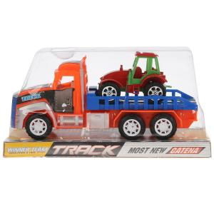 Трейлер инерц. с трактором, в ассорт. 922-3 в пласт. в кор.2*72шт