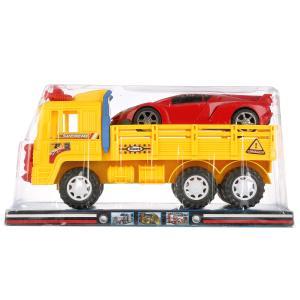 Машина инерц. грузовик с машинкой в пласт. в кор.2*24шт