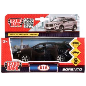 Машина металл KIA Sorento Prime черный 12 см, откр.дв., багаж., инерц. Технопарк в кор.2*24шт
