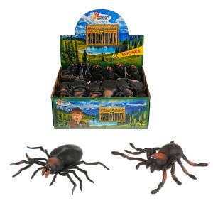 Игрушка пластизоль тянучка Играем вместе паук 12,5 см 2 асс. в дисплее уп-36шт в кор.5уп