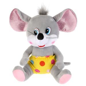 Игрушка мягкая Мышь в желтых штанишках, 18см, без чипа в пак. Мульти-пульти в кор.24шт