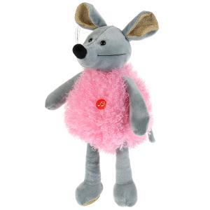 Игрушка мягкая Мышка в розовом 16см муз. чип в пак. Мульти-пульти в кор.24шт