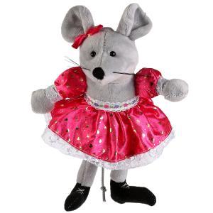 Игрушка мягкая Мышка с бантиком и в платье 15см без чипа в пак. Мульти-пульти в кор.24шт