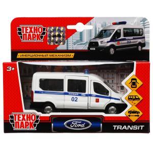 Машина металл FORD Transit полиция 12см, открыв. двери, инерц. в кор. Технопарк в кор.2*24шт