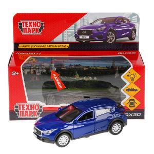"Машина металл свет-звук ""INFINITI QX30"" 12см, откр. двери, инерц, синий в кор Технопарк в кор.2*36шт"