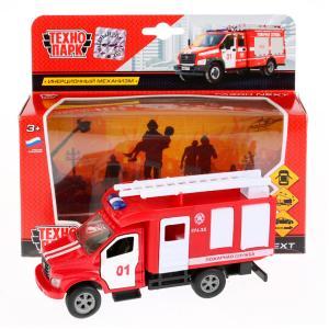 Машина металл ГАЗ Газон NEXT пожарная машина 14,5см, откр. двери, инерц в кор Технопарк в кор.2*24шт